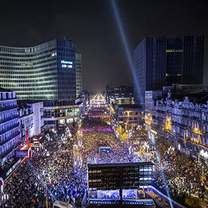 New Year's Eve in Brussels. � Eric Danhier